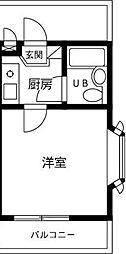 ジュネパレス稲毛第13[2階]の間取り