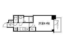 Osaka Metro長堀鶴見緑地線 松屋町駅 徒歩4分の賃貸マンション 9階1Kの間取り