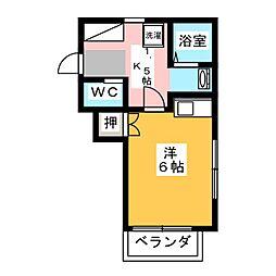 明和マンション[1階]の間取り