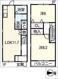 [タウンハウス] 愛知県豊川市金塚町2丁目 の賃貸【/】の間取り