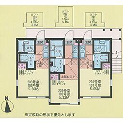 ハーミットクラブハウス戸塚II[2階]の間取り