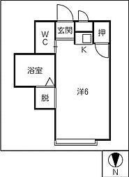 モンパオ21[2階]の間取り
