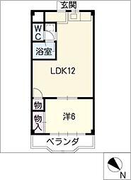 第一中島ビル[3階]の間取り