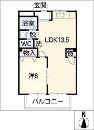 モノトーンハウス[1階]の間取り