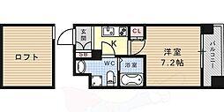 JR東海道・山陽本線 六甲道駅 徒歩10分の賃貸マンション 6階1Kの間取り