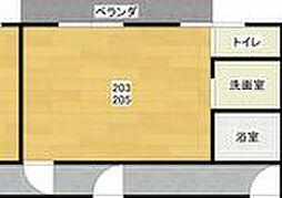 レジデンス小若江 203[203号室]の間取り