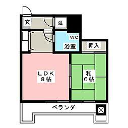 ユニーブル栄[6階]の間取り