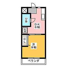 フラッツITO[3階]の間取り