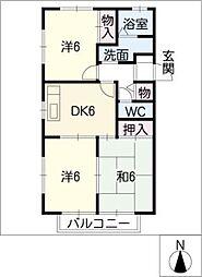 愛知県半田市青山4丁目の賃貸アパートの間取り