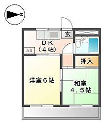 エクセル上飯田[3階]の間取り