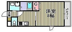 アムール高松東[207号室]の間取り