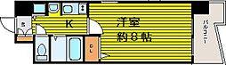 大阪府大阪市中央区瓦町1丁目の賃貸マンションの間取り