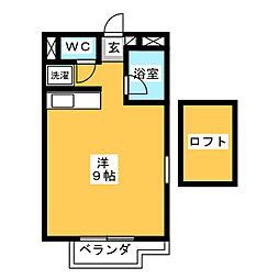 カーサU2[2階]の間取り