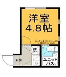東京都葛飾区柴又7丁目の賃貸アパートの間取り