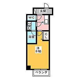 GRAN PASEO 神楽坂 1階1Kの間取り