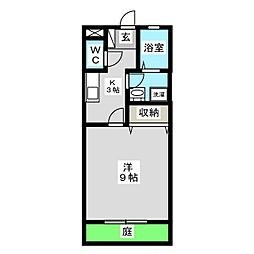 m.uコーポ[1階]の間取り