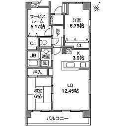 Tテラス[2階]の間取り