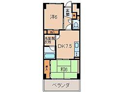 千代グランドマンションA[6階]の間取り