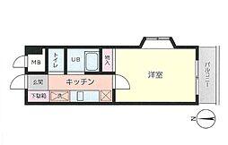 第六倉田ハイツ[3階]の間取り