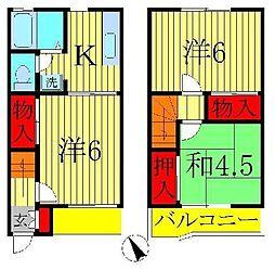[テラスハウス] 千葉県松戸市五香西3丁目 の賃貸【千葉県 / 松戸市】の間取り