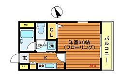 東京都武蔵野市吉祥寺北町3丁目の賃貸マンションの間取り