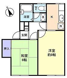 メゾンタミー2[1階]の間取り