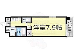 Osaka Metro千日前線 桜川駅 徒歩10分の賃貸マンション 8階1Kの間取り
