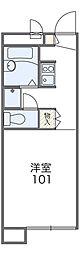 福井県福井市木田1−2217[208号室]の間取り