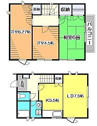 [テラスハウス] 東京都東村山市萩山町4丁目 の賃貸【/】の間取り