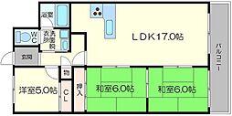 プライムハイツ新大阪[3階]の間取り