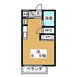 メゾンカニエ A棟[1階]の間取り