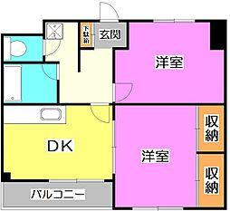 東京都練馬区大泉学園町7丁目の賃貸マンションの間取り