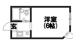 マンションシャトー[203号室]の間取り