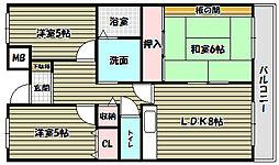 プレスト・コート弐番館[11階]の間取り