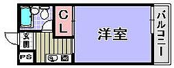 ココットネゴロ[201号室]の間取り