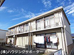 東京都日野市神明4丁目の賃貸アパートの外観