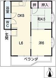 第二安井ビル[3階]の間取り