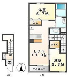 Le Grand Y[2階]の間取り