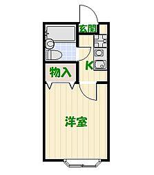 東京都足立区東和4丁目の賃貸アパートの間取り