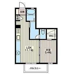 メビュースタウンVI B[1階]の間取り