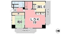 ロワイヤル安室[501号室]の間取り