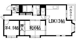 シャトー宝塚[3階]の間取り