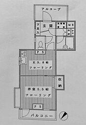 ライオンズマンション横浜ポートビュー[711号室]の間取り