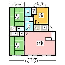 ノーブルハイツ弥富[3階]の間取り