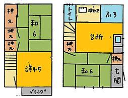 [一戸建] 栃木県足利市南大町 の賃貸【栃木県 / 足利市】の間取り