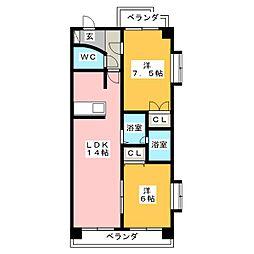 シャトレウィング[3階]の間取り