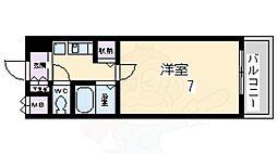 花屋敷マンション 2階1Kの間取り