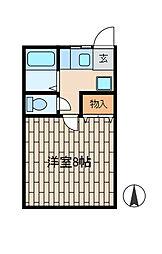ハウスYOU[1階]の間取り