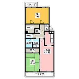 ウィステリア32[2階]の間取り