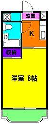 静岡県浜松市東区半田山3丁目の賃貸マンションの間取り